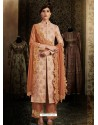 Light Orange Latest Heavy Designer Party Wear Straight Salwar Suit