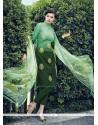 Simplistic Green Resham Work Jacquard Designer Salwar Kameez