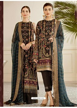Coffee Latest Wedding Wear Designer Georgette Pakistani Suit