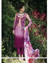 Astounding Embroidered Work Cotton Purple Designer Salwar Kameez