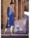 Simplistic Blue Designer Salwar Suit