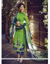 Praiseworthy Cotton Green Embroidered Work Designer Salwar Kameez