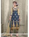 Exceeding Navy Blue Designer Straight Salwar Suit
