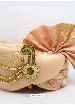 Baby Pink Designer Wedding Wear Turban