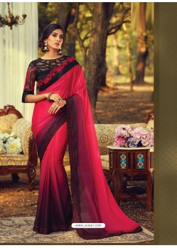 Crimson Stylish Designer Party Wear Sari