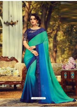 Multi Colour Stylish Designer Party Wear Sari