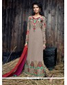 Immaculate Grey Embroidered Work Designer Suit