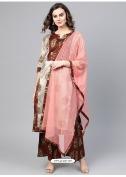 Multi Colour Stylish Readymade Party Wear Salwar Suit