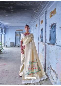 Gold Classic Wear Designer Pure Soft Silk Sari