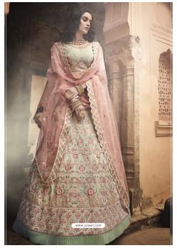 Sea Green Ravishing Heavy Embroidered Designer Wedding Wear Lehenga Choli
