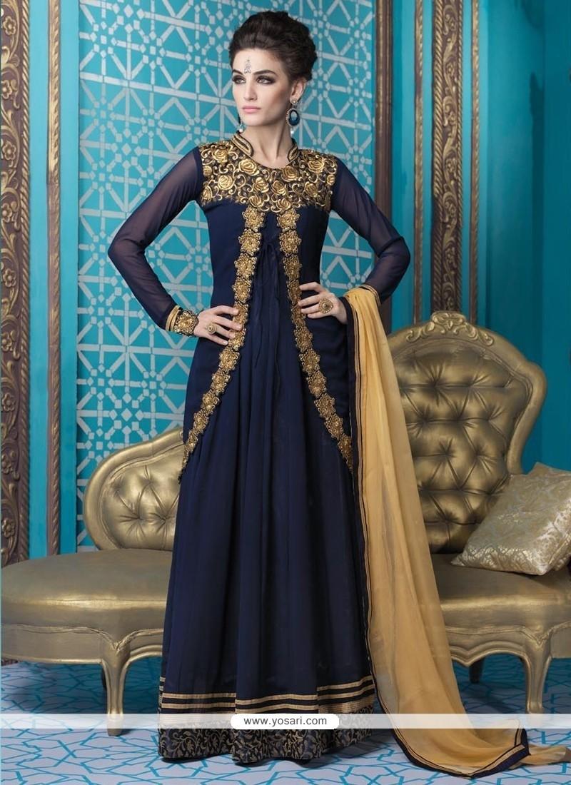 Elegant Blue Designer Suit