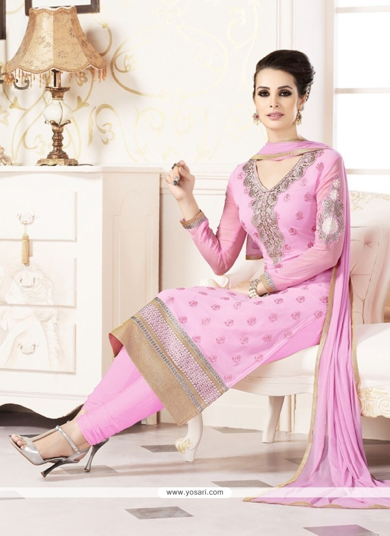 Modernistic Resham Work Churidar Designer Suit