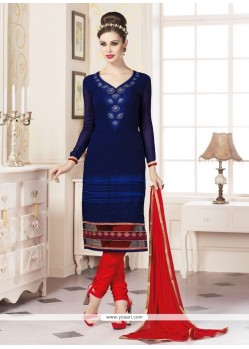 Tiptop Blue Churidar Designer Suit