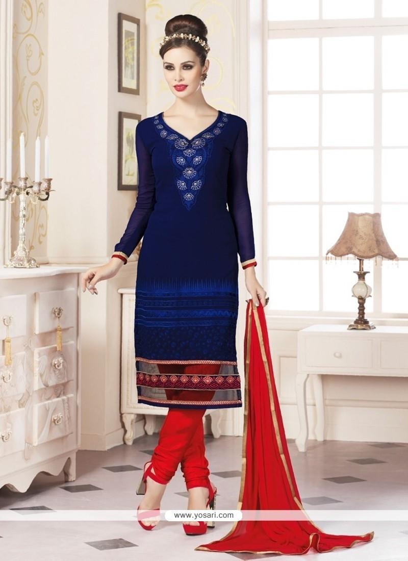 Tiptop Blue Churidar Designer Suit