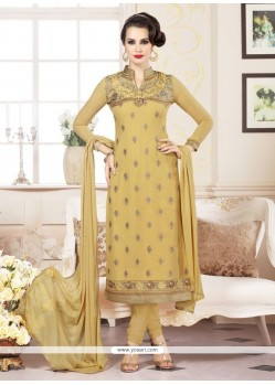 Vehemently Embroidered Work Churidar Designer Suit