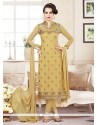 Vehemently Embroidered Work Churidar Designer Suit