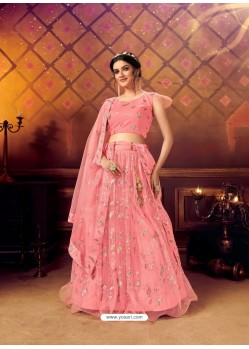 Light Pink Gorgeous Heavy Embroidered Designer Wedding Wear Lehenga Choli
