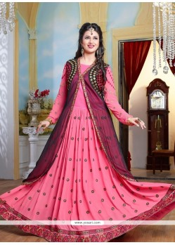Alluring Embroidered Work Georgette Floor Length Anarkali Salwar Suit