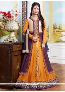 Floral Georgette Designer Floor Length Salwar Suit
