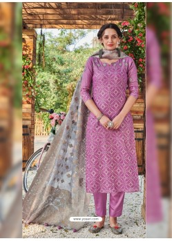 Magenta Fabulous Readymade Designer Party Wear Straight Salwar Suit