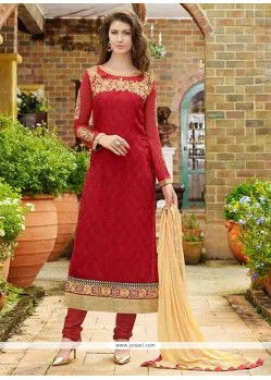 Riveting Zari Work Straight Suit
