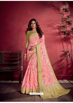 Pink Ravishing Designer Party Wear Art Silk Sari