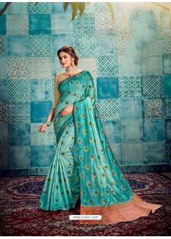 Firozi Stunning Designer Party Wear Sari