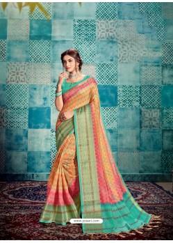 Multi Colour Stunning Designer Party Wear Sari