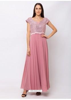 Pink Sensational Designer Party Wear Gown