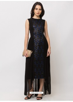 Black Sensational Designer Party Wear Gown