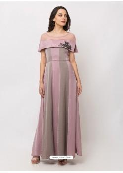 Dusty Pink Sensational Designer Party Wear Gown
