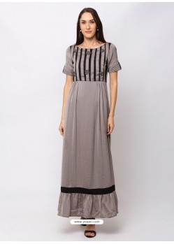 Light Grey Sensational Designer Party Wear Gown