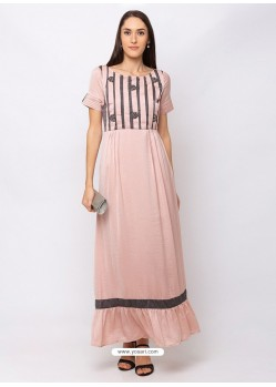 Baby Pink Sensational Designer Party Wear Gown