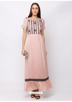 Baby Pink Sensational Designer Party Wear Gown