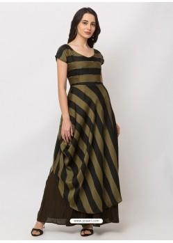 Mehendi Sensational Designer Party Wear Gown