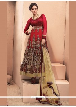 Catchy Resham Work Anarkali Salwar Kameez