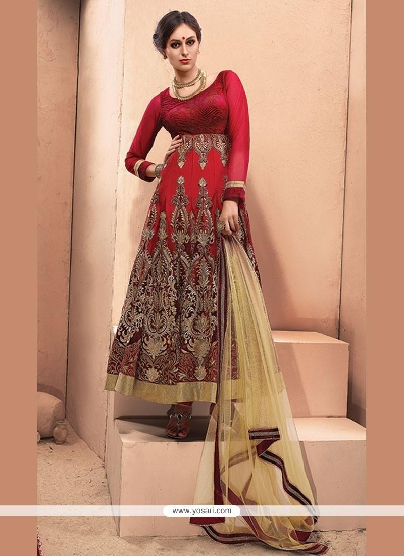 Catchy Resham Work Anarkali Salwar Kameez