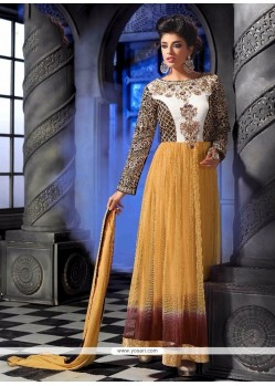 Glowing Multi Colour Georgette Anarkali Salwar Kameez