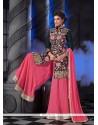 Exquisite Pink Resham Work Designer Palazzo Salwar Kameez