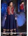 Gleaming Georgette Blue Anarkali Salwar Kameez