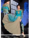 Preferable Georgette Turquoise Designer Suit