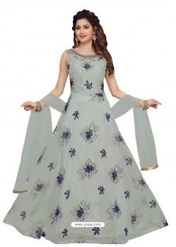 Light Grey Fabulous Readymade Designer Party Wear Anarkali Suit
