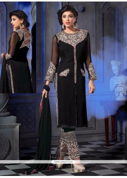 Black Georgette Designer Suit