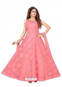 Peach Fabulous Readymade Designer Party Wear Anarkali Suit