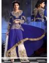 Sterling Embroidered Work Georgette Blue Designer Palazzo Salwar Kameez