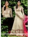 Customary Off White Lace Work Designer Floor Length Salwar Suit