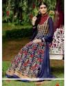 Haute Blue Anarkali Salwar Kameez