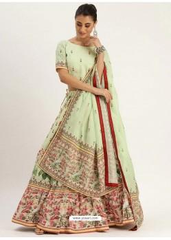 Sea Green Heavy Designer Vailshali Silk Party Wear Lehenga