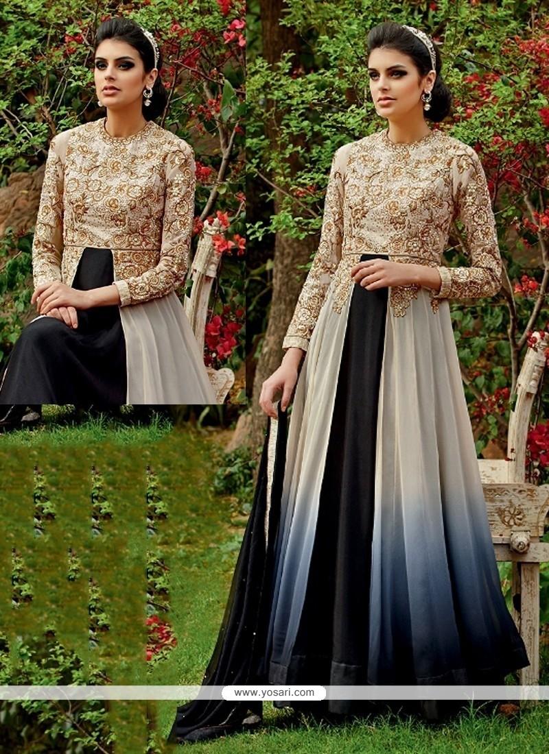 Spectacular Zari Work Anarkali Salwar Kameez