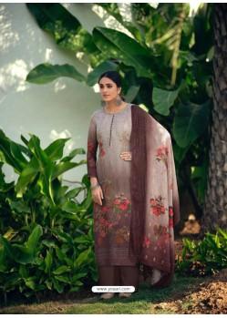 Deep Scarlet Designer Wear Maslin Palazzo Salwar Suit